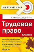 Е. Н. Евстигнеев -Трудовое право. Краткий курс