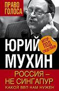 Юрий Игнатьевич Мухин -Россия – не Сингапур. Какой ВВП нам нужен