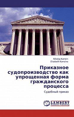 Николай Камзин - Приказное судопроизводство как упрощенная форма гражданского процесса. Судебный приказ