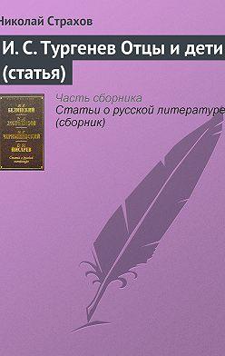 Николай Страхов - И. С. Тургенев Отцы и дети (статья)