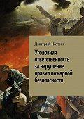 Дмитрий Наумов -Уголовная ответственность за нарушение правил пожарной безопасности