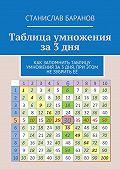 Станислав Баранов -Таблица умножения за3дня. Как запомнить таблицу умножения за3 дня, при этом незубритьеё