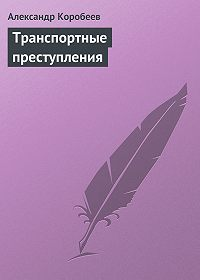 Александр Коробеев -Транспортные преступления