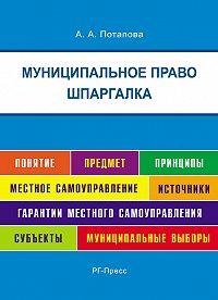 А. Потапова - Шпаргалка по муниципальному праву. Учебная литература