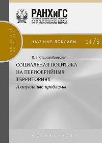 И. Стародубровская - Социальная политика на периферийных территориях. Актуальные проблемы