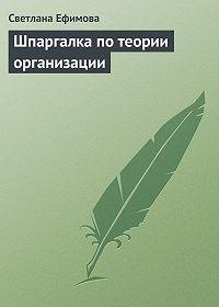 Светлана Ефимова -Шпаргалка по теории организации