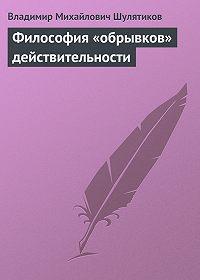 Владимир Шулятиков -Философия «обрывков» действительности