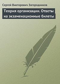 Сергей Викторович Загородников - Теория организации. Ответы на экзаменационные билеты