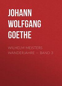 Johann Wolfgang -Wilhelm Meisters Wanderjahre – Band 3
