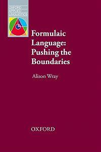 Alison Wray -Formulaic Language