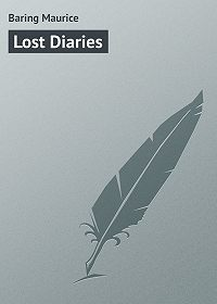 Maurice Baring -Lost Diaries