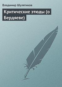 Владимир Шулятиков -Критические этюды (о Бердяеве)