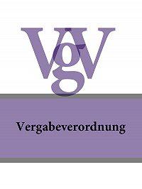 Deutschland - Vergabeverordnung – VgV