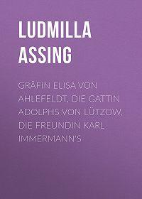 Ludmilla Assing -Gräfin Elisa von Ahlefeldt, die Gattin Adolphs von Lützow, die Freundin Karl Immermann's