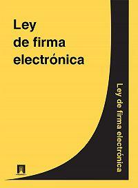 Espana -Ley de firma electronica