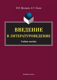В. В. Прозоров, Е. Г. Елина - Введение в литературоведение