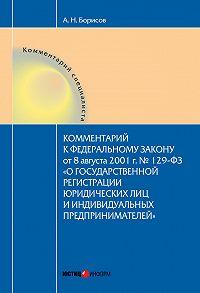 А. Н. Борисов - Комментарий к Федеральному Закону от 8 августа 2001 г. №129-ФЗ «О государственной регистрации юридических лиц и индивидуальных предпринимателей» (постатейный)