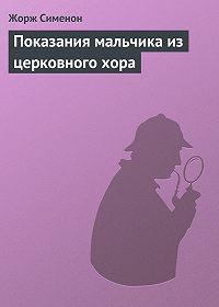 Жорж Сименон -Показания мальчика из церковного хора