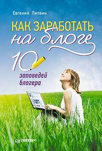 Евгений Литвин -Как заработать на блоге. 10 заповедей блогера