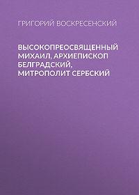 Григорий Воскресенский -Высокопреосвященный Михаил, архиепископ Белградский, митрополит Сербский
