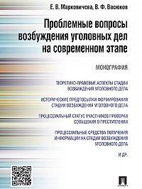 Виталий Васюков -Проблемные вопросы возбуждения уголовных дел на современном этапе. Монография