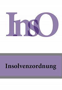 Deutschland -Insolvenzordnung – InsO