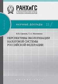 Татьяна Малинина, Владимир Громов - Перспективы экологизации налоговой системы Российской Федерации