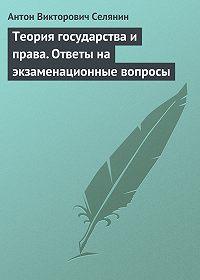 Антон Викторович Селянин -Теория государства и права. Ответы на экзаменационные вопросы