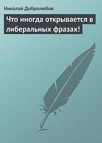 Николай Добролюбов - Что иногда открывается в либеральных фразах!