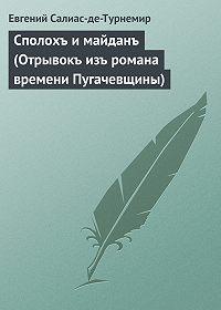 Евгений Салиас-де-Турнемир -Сполохъ и майданъ (Отрывокъ изъ романа времени Пугачевщины)