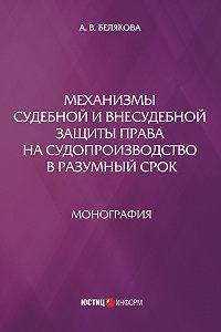 Анна Белякова -Механизмы судебной и внесудебной защиты права на судопроизводство в разумный срок