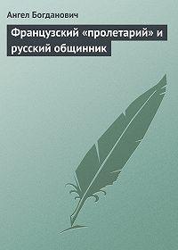 Ангел Богданович -Французский «пролетарий» и русский общинник