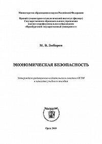 Михаил Зибарев -Экономическая безопасность