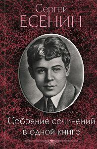 Сергей Есенин - Собрание сочинений водной книге