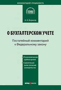 А. Н. Борисов -Комментарий к Федеральному закону от 21 ноября 1996г.№129-ФЗ «О бухгалтерском учете» (постатейный)