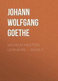 Johann Wolfgang -Wilhelm Meisters Lehrjahre – Band 7
