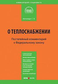 Светлана Владимировна Матиящук -Комментарий к Федеральному закону от 27 июля 2010 г. №190-ФЗ «О теплоснабжении» (постатейный)