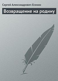 Сергей Есенин -Возвращение на родину