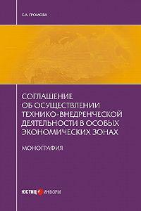 Елизавета Громова - Соглашение об осуществлении технико-внедренческой деятельности в особых экономических зонах