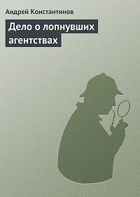 Андрей Константинов -Дело о лопнувших агентствах