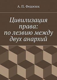 Александр Федосюк - Цивилизация права: полезвиюмежду двух анархий