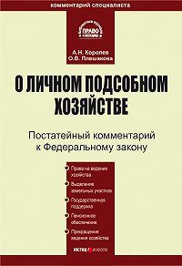 Андрей Николаевич Королев -Комментарий к Федеральному закону «О личном подсобном хозяйстве»