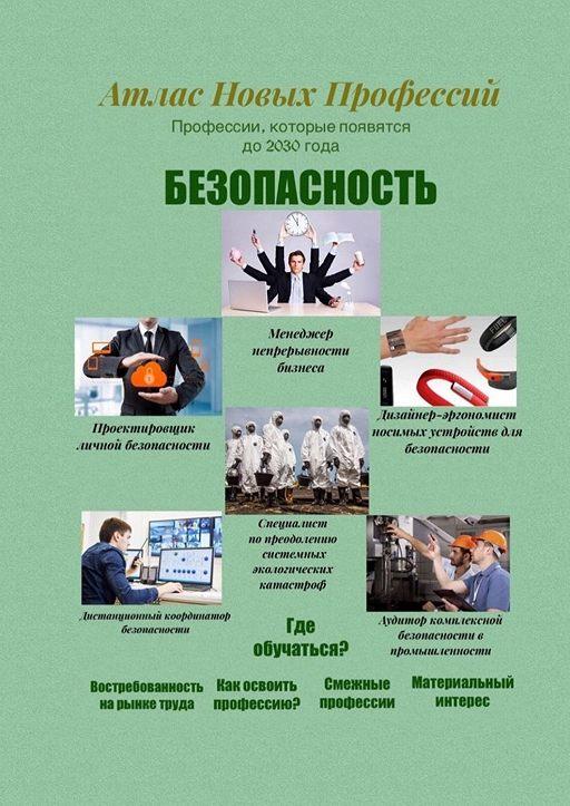 Атлас новых профессий. Безопасность. Профессии, которые появятся до 2030 года